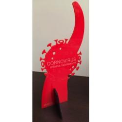 SAGOMATA ® CORNOVIRUS Colore Rosso base Nera
