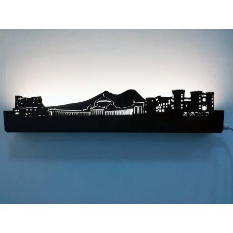 SAGOMATA ® - Lampada skyline Napoli 30cm CONSEGNA GRATIS IN TUTTA ITALIA