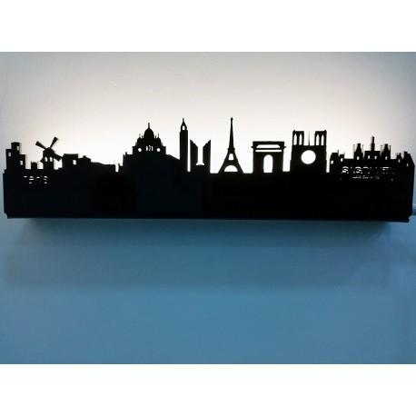 SAGOMATA ® - Lampada skyline Parigi (Paris) 30cm CONSEGNA GRATIS IN TUTTA ITALIA